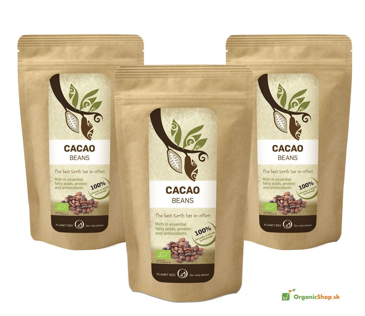 Kakaové bôby BIO&RAW – drvené 300 g AKCIA 3ks