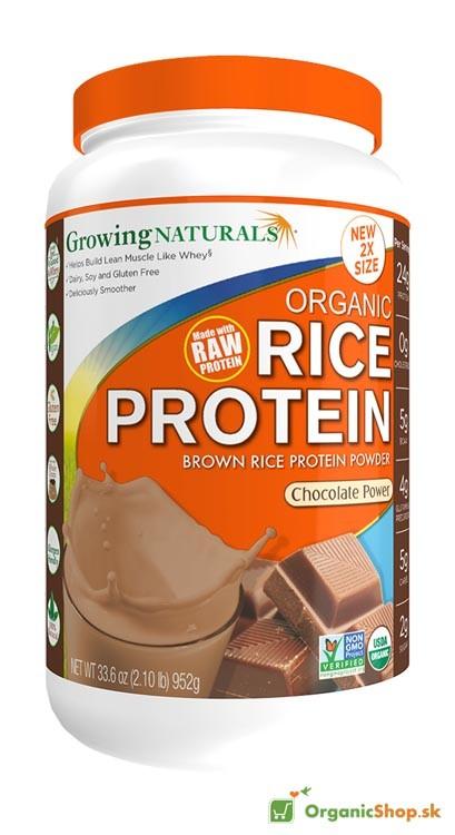 Ryžový proteínový prášok BIO&RAW - čokoládový - 952g