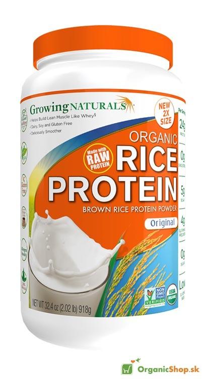 Ryžový proteínový prášok BIO&RAW - naturál - 918g