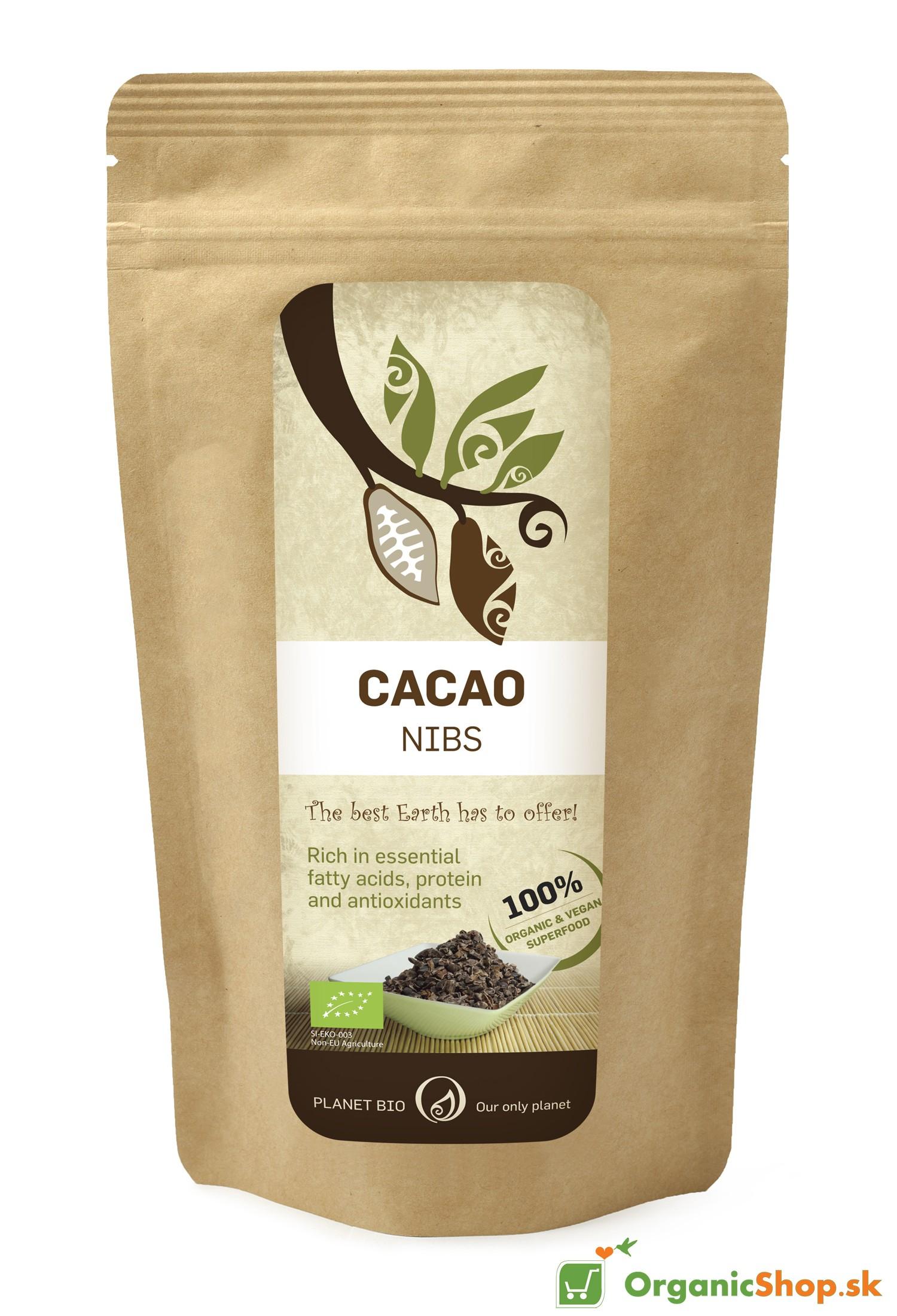 Kakaové bôby BIO&RAW – drvené 300 g