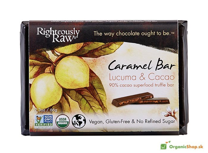 Karamelová BIO&RAW čokoláda 90%, 6x66g