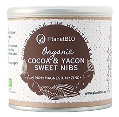 Kakao&Yacon sladké drvené kakaové bôby BIO&RAW 120g