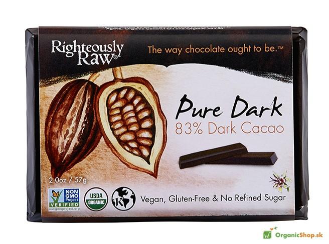 Čisté kakao BIO&RAW čokoláda 83%, 6x66g
