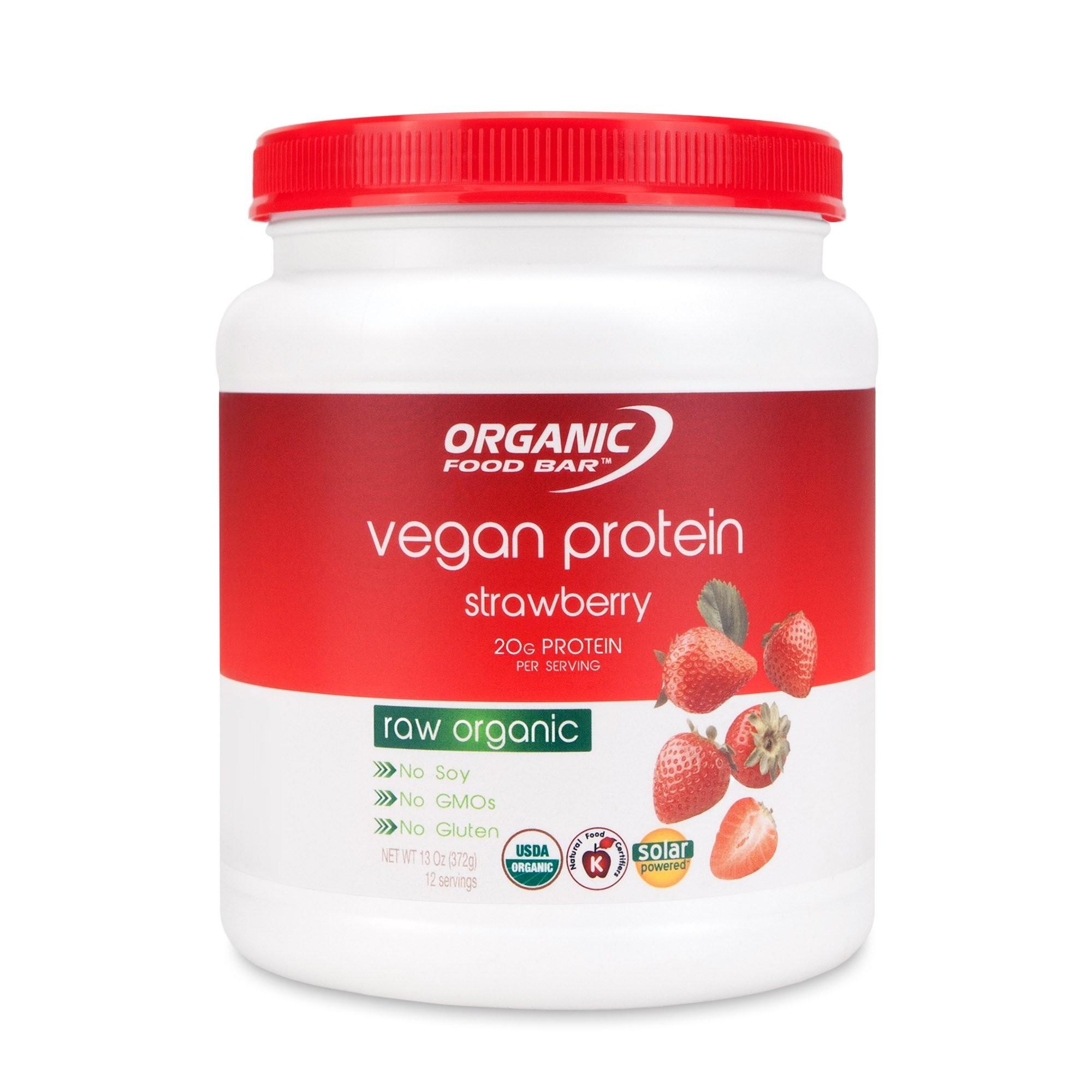 Vegan protein Raw Strawberry OFB - Bio Proteín 372g