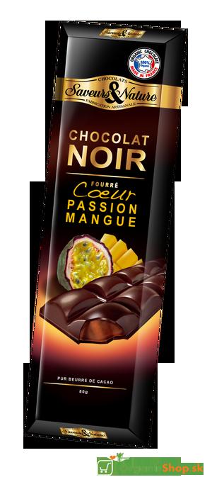 Čokoláda Bio 70% Passion Mango Ganache – 80g