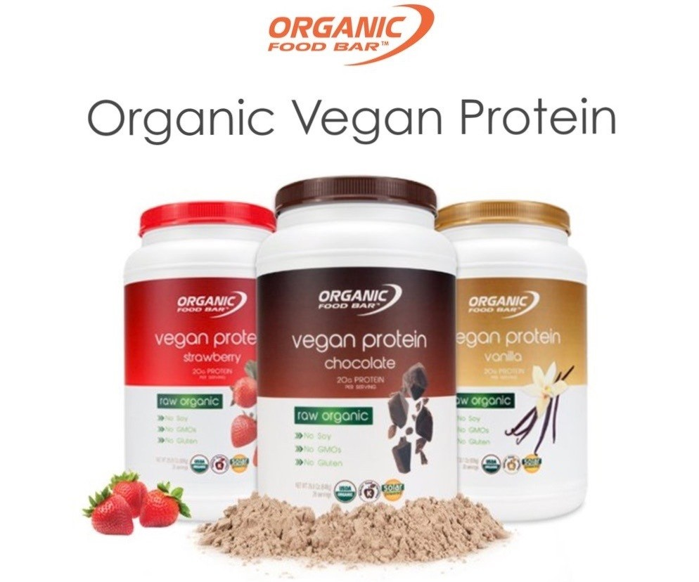 Vegan protein Raw OFB 3druhy - Bio Proteín AKCIA 1196g