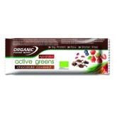 Organic Food Bar Active Greens Protein obalená v čokoláde 12 x 75g RAW