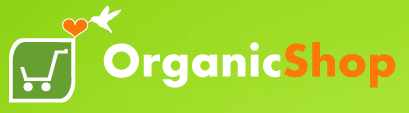 logo organic shop green