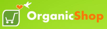 logo organic shop green